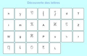 découverte des lettres