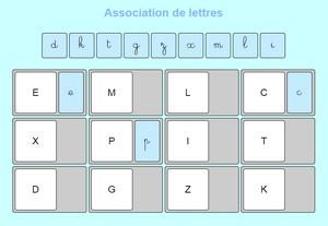 association de lettres