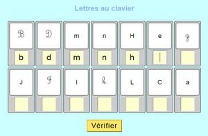 lettres au clavier
