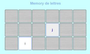 memory de lettres