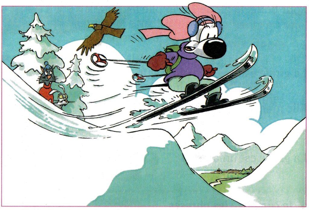 La course de ski