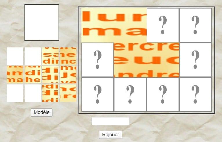 Le puzzle des jours