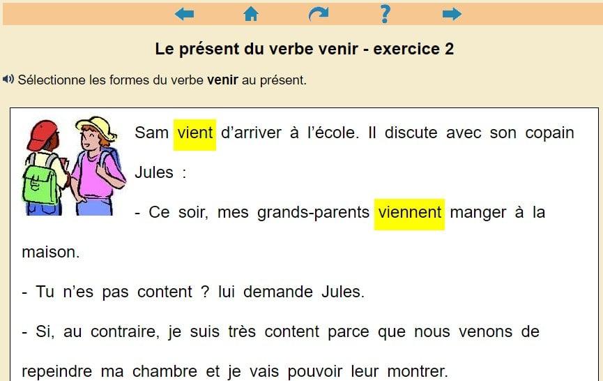 Le Present Du Verbe Venir Clic Ma Classe