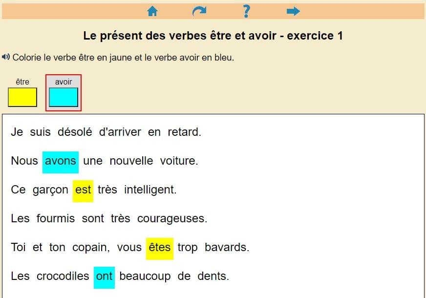 Le Present Des Verbes Etre Et Avoir Clic Ma Classe